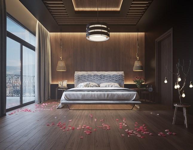 Cách thay đổi nội thất phòng ngủ bằng tường gỗ – Nhà Đẹp Webb.vn