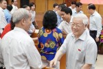 Tổng Bí thư tiếp xúc cử tri quận Ba Đình, Hoàn Kiếm
