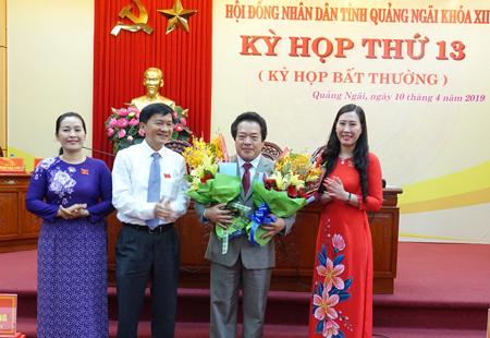 Phê chuẩn Phó Chủ tịch UBND tỉnh Quảng Ngãi