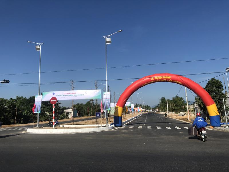 Đà Nẵng: Khánh thành công trình tuyến đường Hòa Phước – Hòa Khương