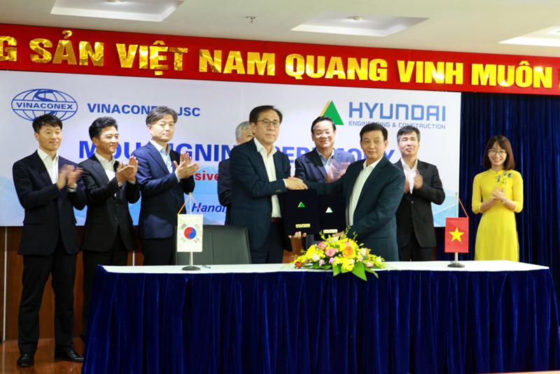 Vinaconex hợp tác chiến lược cùng Hyundai E&C