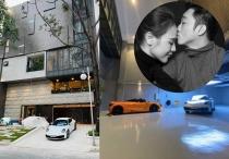 Cường Đôla và bà xã Trang Đàm sở hữu biệt thự triệu đô với gara để siêu xe