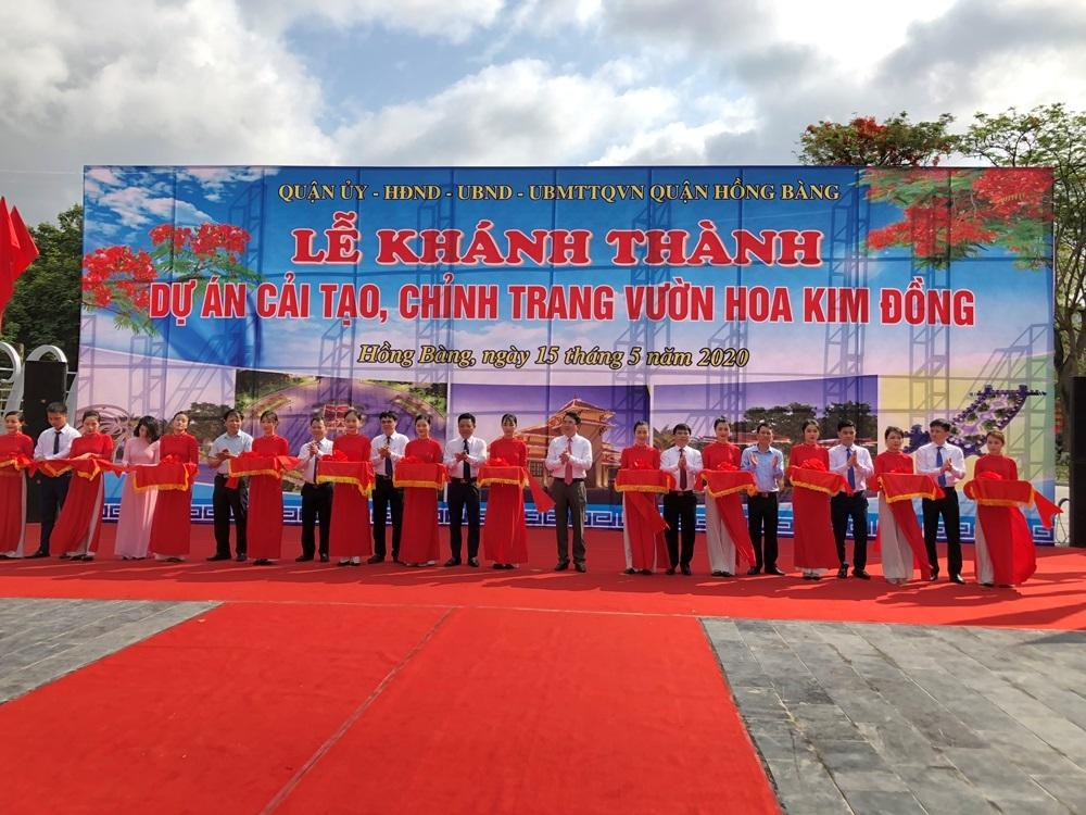 Hồng Bàng (Hải Phòng): Hoàn thành cải tạo, chỉnh trang vườn hoa Kim Đồng