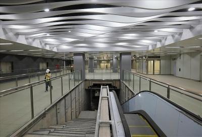 Bên trong ga ngầm Ba Son tuyến metro số 1 hoàn thành vượt tiến độ