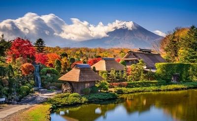 Làng cổ tuyệt đẹp dưới chân núi Phú Sĩ