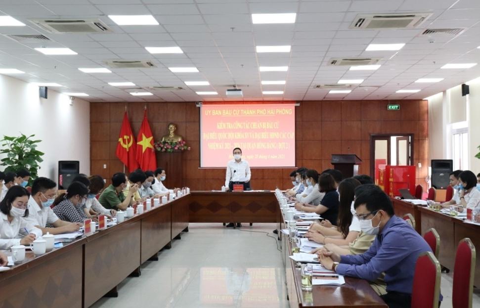 Hồng Bàng (Hải Phòng): Tuyên truyền cổ động, hưởng ứng bầu cử đại biểu Quốc hội khóa XV và đại biểu HĐND các cấp nhiệm kỳ 2021 – 2026