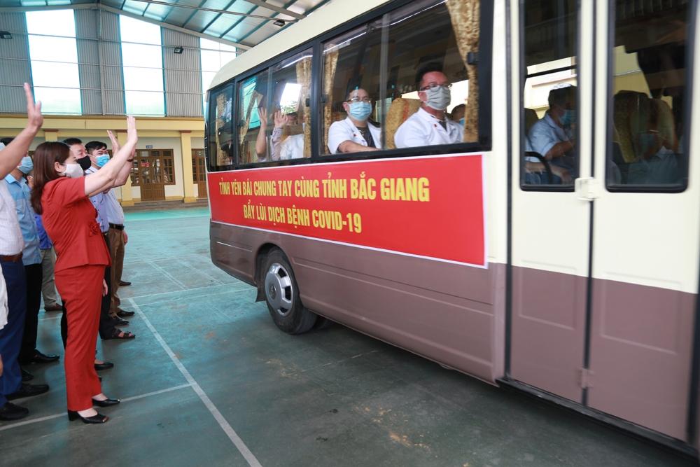 Đoàn y bác sỹ, nhân viên y tế của Yên Bái tiếp tục lên đường hỗ trợ tỉnh Bắc Giang phòng, chống dịch covid-19