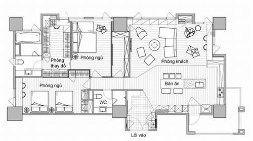 080740baoxaydung image012 Thiết kế căn hộ lý tưởng cho gia đình có con nhỏ