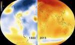 Quá trình Trái Đất rực nóng trong 100 năm qua