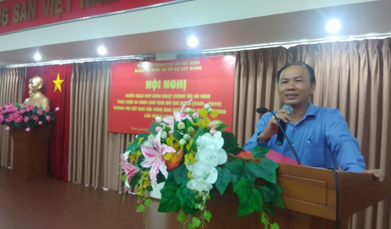 Đảng ủy Khối cơ sở Bộ Xây dựng tại TP Hồ Chí Minh: Triển khai đợt sinh hoạt chính trị 50 thực hiện Di chúc của Chủ tịch Hồ Chí Minh