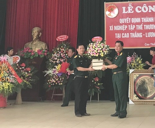 Thành lập Chi nhánh Xí nghiệp Tập thể Thương binh Quang Minh tại tỉnh Hòa Bình