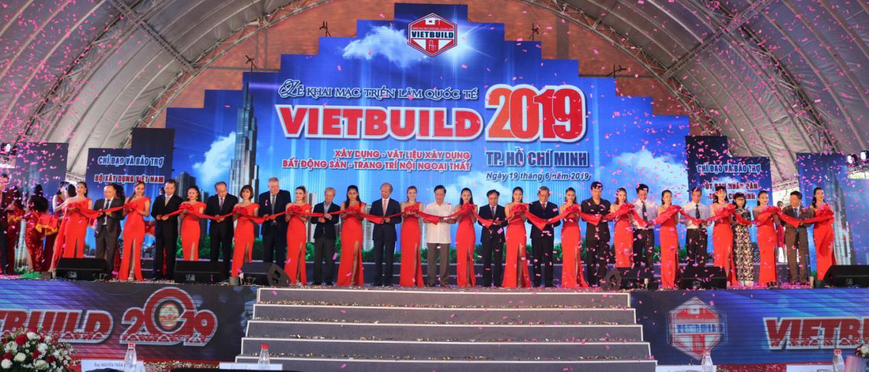 Khai mạc triển lãm quốc tế Vietbuild 2019 tại TP Hồ Chí Minh