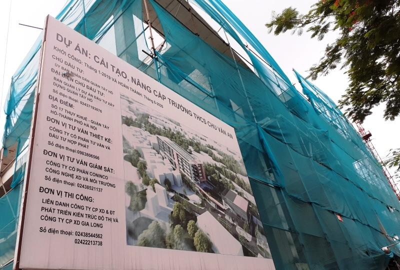 Đảm bảo an toàn trong xây dựng trường THCS Chu Văn An