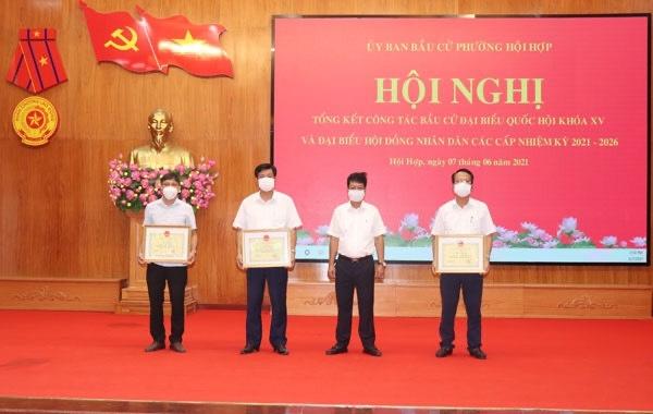 Vĩnh Yên (Vĩnh Phúc): Phường Hội Hợp tổng kết công tác bầu cử đại biểu Quốc hội khóa XV và HĐND các cấp nhiệm kỳ 2021-2026