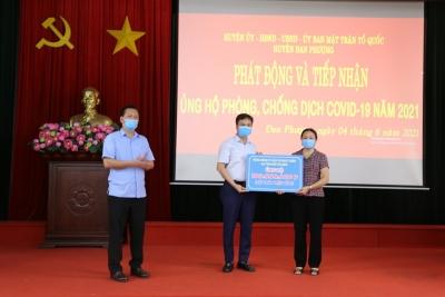 """Hà Nội: Đan Phượng tích cực kêu gọi ủng hộ """"Quỹ vắc-xin phòng chống COVID-19"""""""