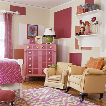 Trang trí phòng màu hồng dành cho các bé gái
