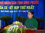 Bà Trần Tuệ Hiền được bầu làm Chủ tịch HĐND tỉnh Bình Phước