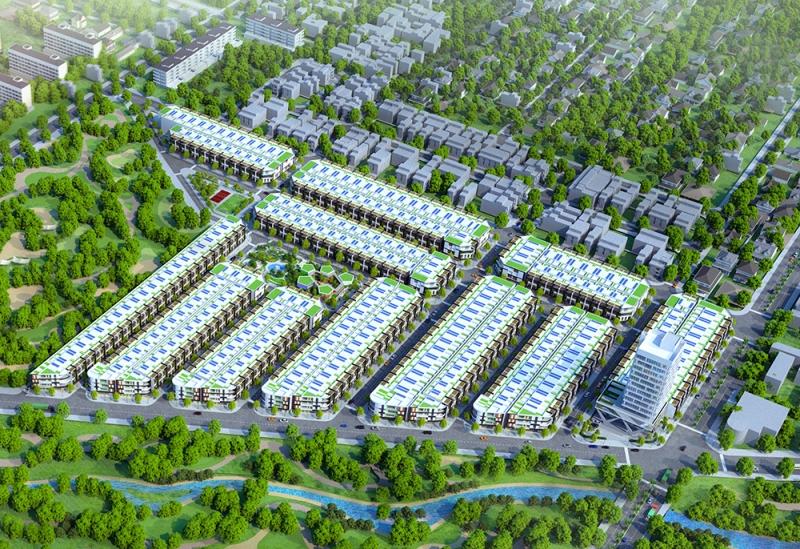 Phối cảnh Dự án Khu nhà ở Trường Thịnh - Dự án BĐS tiềm năng ngay trung tâm TP Đồng Hới.
