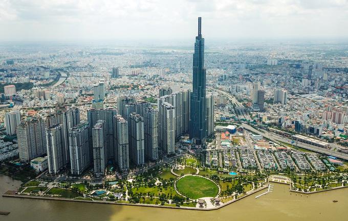 Công trường trên đỉnh tòa nhà cao nhất Việt Nam 171123baoxaydung_image001
