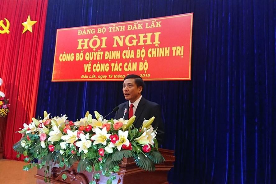 Điều động đồng chí Bùi Văn Cường giữ chức Bí thư Tỉnh ủy Đắk Lắk