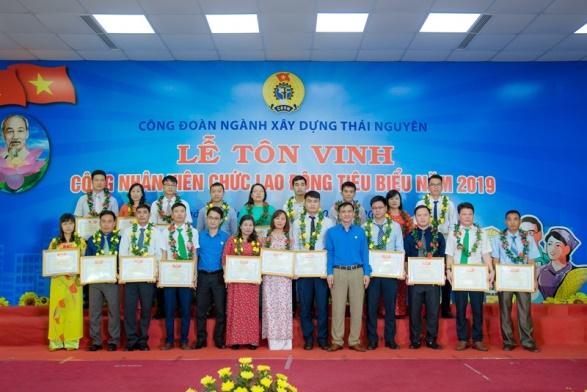 Công đoàn ngành Xây dựng Thái Nguyên tôn vinh CNVCLĐ tiêu biểu