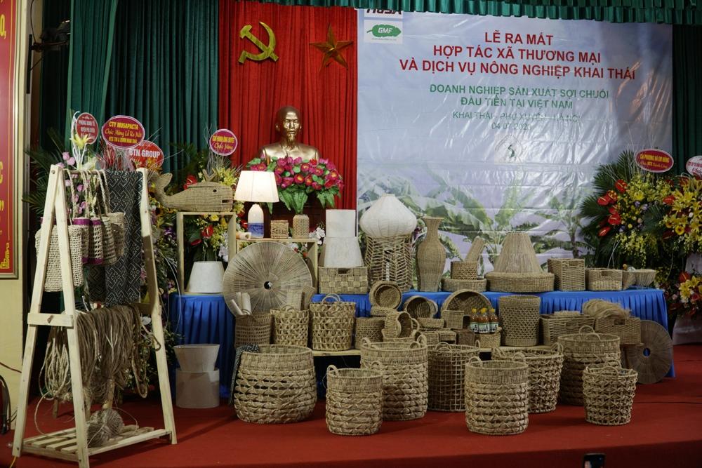 Ra mắt Hợp tác xã sản xuất sợi chuối đầu tiên tại Việt Nam