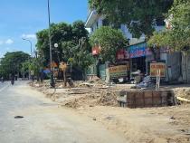 Thành phố Vinh: Di dời cây xanh trên đường Lê Nin trong thời tiết nắng nóng gay gắt