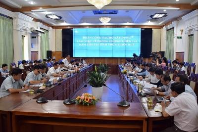 Đoàn công tác Bộ Xây dựng làm việc với tỉnh Thừa Thiên - Huế về phòng chống thiên tai