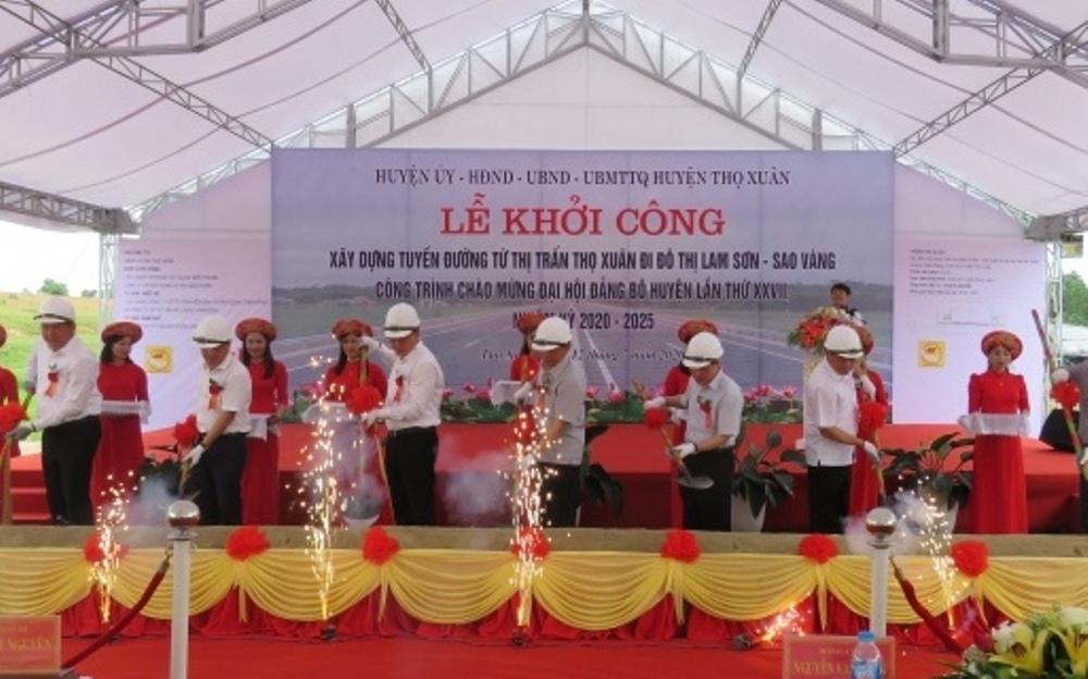 Thanh Hóa: Khởi công tuyến đường từ thị trấn Thọ Xuân đi đô thị Lam Sơn - Sao Vàng