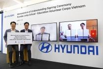 Tập đoàn ôtô Hyundai triển khai chương trình tình nguyện giáo dục dành cho sinh viên Việt Nam