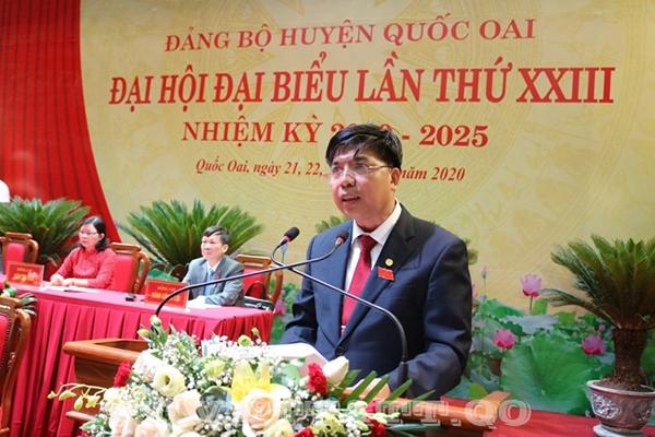 """Hà Nội: Chủ tịch UBND huyện Quốc Oai """"trượt"""" Ban chấp hành Đảng bộ huyện khóa mới"""