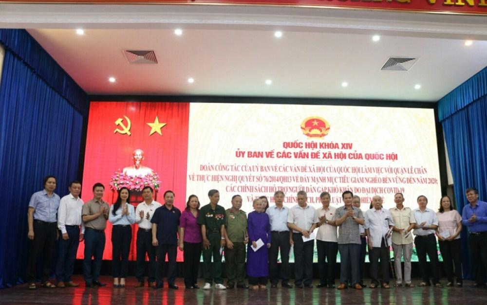 Hải Phòng: Đoàn công tác của Ủy ban về các vấn đề xã hội của Quốc hội làm việc tại UBND quận Lê Chân