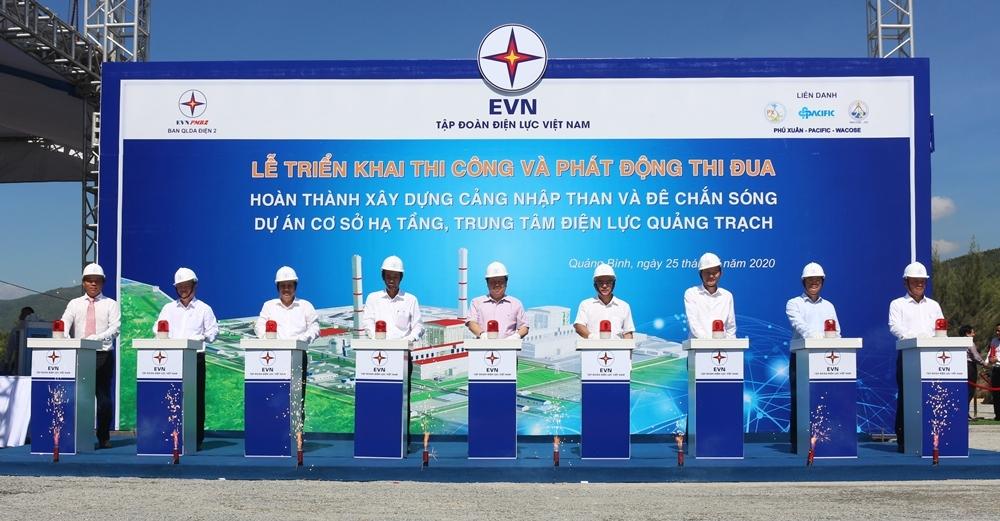 Quảng Bình: Khởi công xây dựng Cảng nhập than và đê chắn sóng tại Trung tâm Điện lực Quảng Trạch