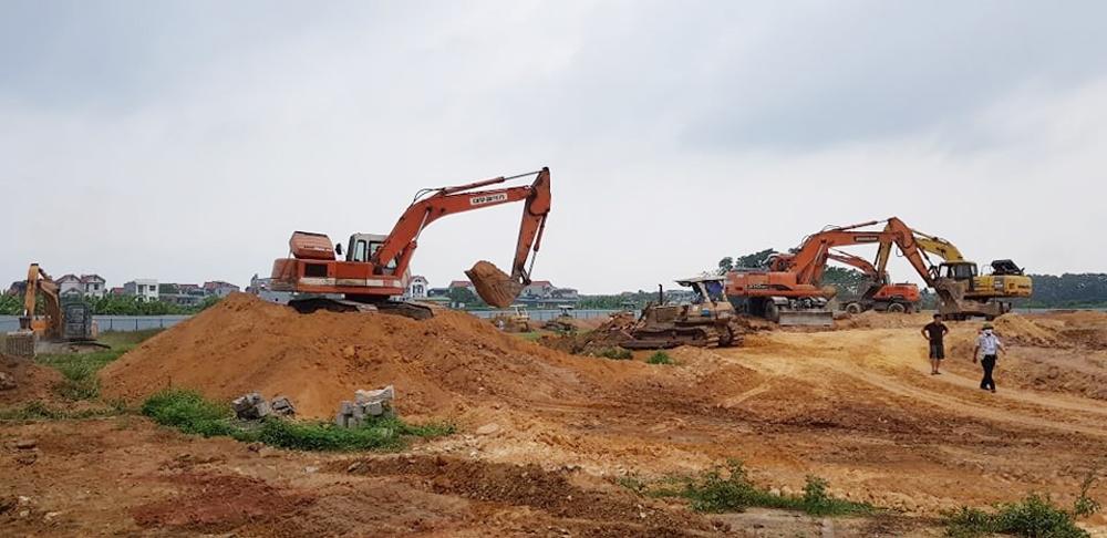 Vĩnh Phúc: Bảo vệ thi công dự án Cụm công nghiệp Đồng Văn