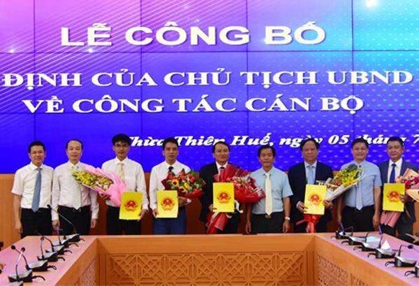 Thừa Thiên – Huế: Bổ nhiệm nhiều Giám đốc, Phó Giám đốc các sở