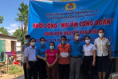 Quảng Trị: Xây Mái ấm Công đoàn cho đoàn viên có hoàn cảnh khó khăn