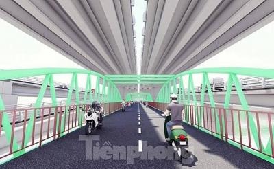 Mục sở thị thiết kế cầu vòm sắt vượt hồ đầu tiên tại Hà Nội