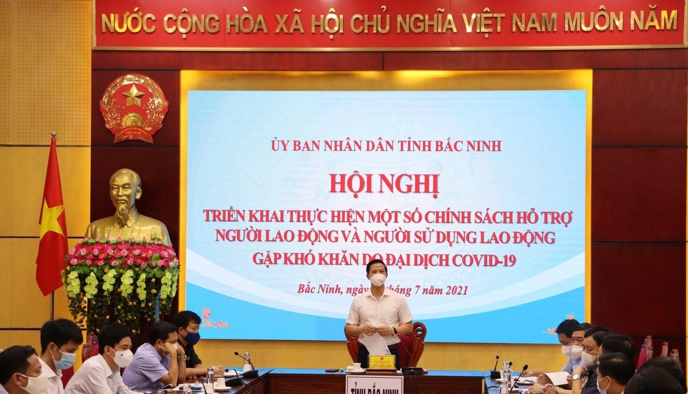 Bắc Ninh triển khai chính sách hỗ trợ người lao động và người sử dụng lao động gặp khó khăn do đại dịch Covid-19