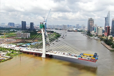Cầu Thủ Thiêm 2 hơn 3.000 tỉ đồng hợp long dịp lễ 2.9 năm nay