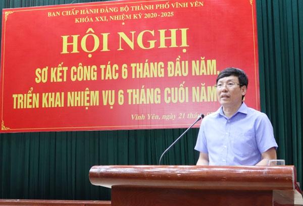 Vĩnh Yên (Vĩnh Phúc): Triển khai nhiệm vụ 6 tháng cuối năm 2021