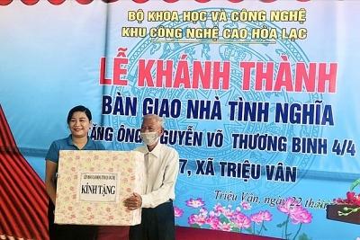 Công đoàn Quảng Trị kết nối xây tặng nhà tình nghĩa cho gia đình chính sách