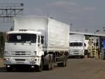 Đoàn xe cứu trợ đầu tiên của Nga đã tới Lugansk