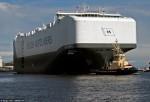 Ảnh ấn tượng về tàu chở ôtô lớn nhất thế giới
