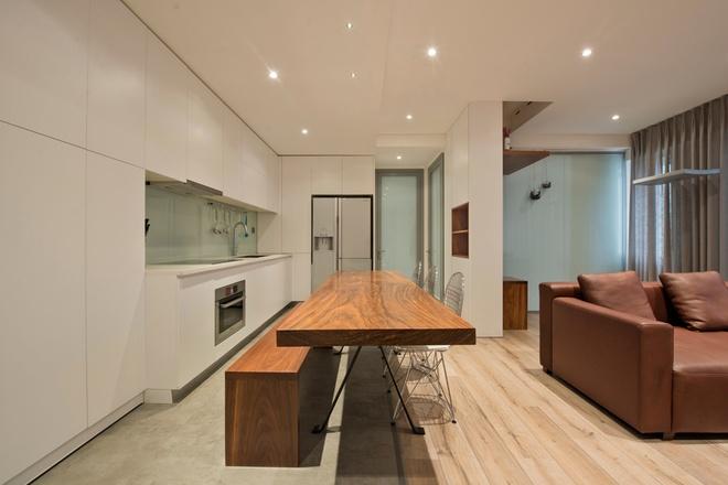 123906baoxaydung image003 Thiết kế căn hộ 91m2 không tường ngăn ở Hà Nội