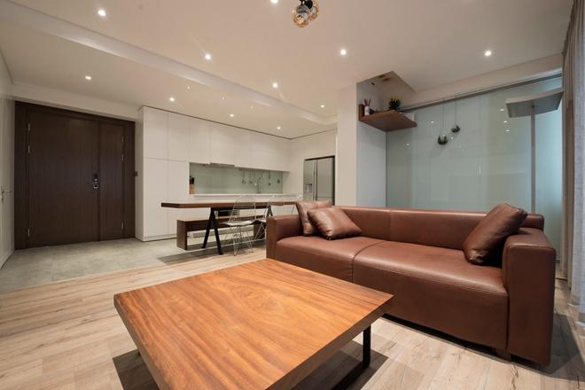 123906baoxaydung image007 Thiết kế căn hộ 91m2 không tường ngăn ở Hà Nội
