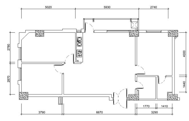 123908baoxaydung image015 Thiết kế căn hộ 91m2 không tường ngăn ở Hà Nội
