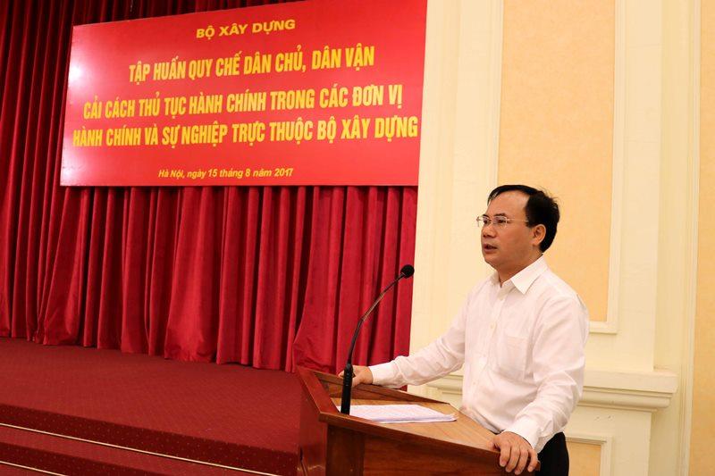 Bộ Xây dựng tập huấn về Quy chế dân chủ và cải cách hành chính
