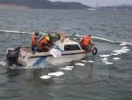 Quảng Ninh: Bục ống dẫn khiến 200l dầu tràn ra Vịnh Hạ Long