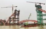 Hải Phòng: Hợp long vòm chính cầu Hoàng Văn Thụ