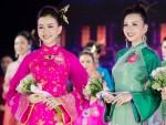 Áo dài cung đình rực rỡ của thí sinh Hoa hậu Việt Nam